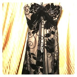 Size 0 White House Black Market gown black lace.